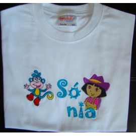 "T-shirt - bordado ""Dora"""