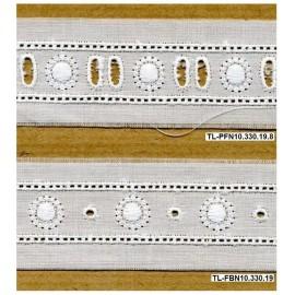 Fita bordada 10 - Passa-fitas e Entremeio branco