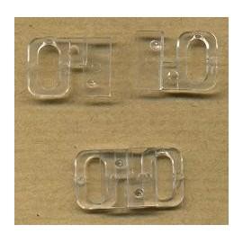 Fivela dupla de plástico transparente