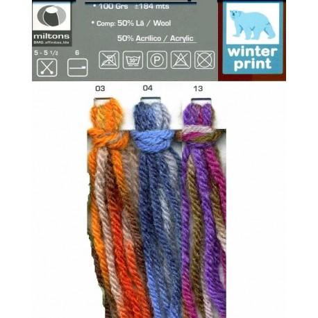 Lã Winter print - carta de cores