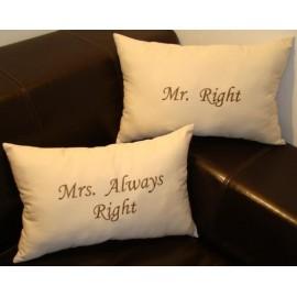 Almofadas Mr. e Mrs.