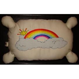 Almofada com arco-íris