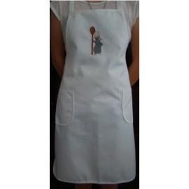 Avental branco Ratatui