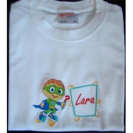 """T-shirt - bordado """"SuperW"""" (Lara)"""