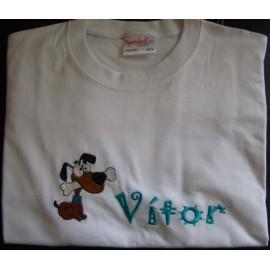 T-shirt - bordado cão