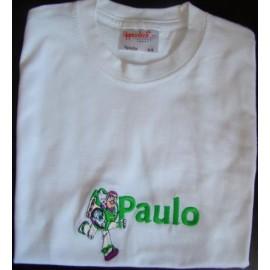 "T-shirt - bordado ""Buzz lightyear"" (Paulo)"